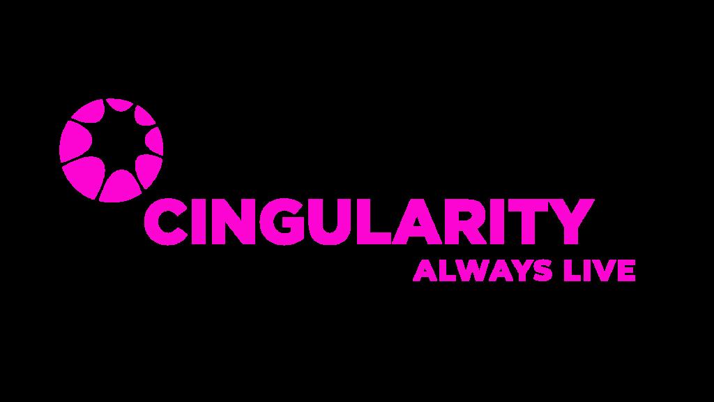Cingularity logo: 'always live'