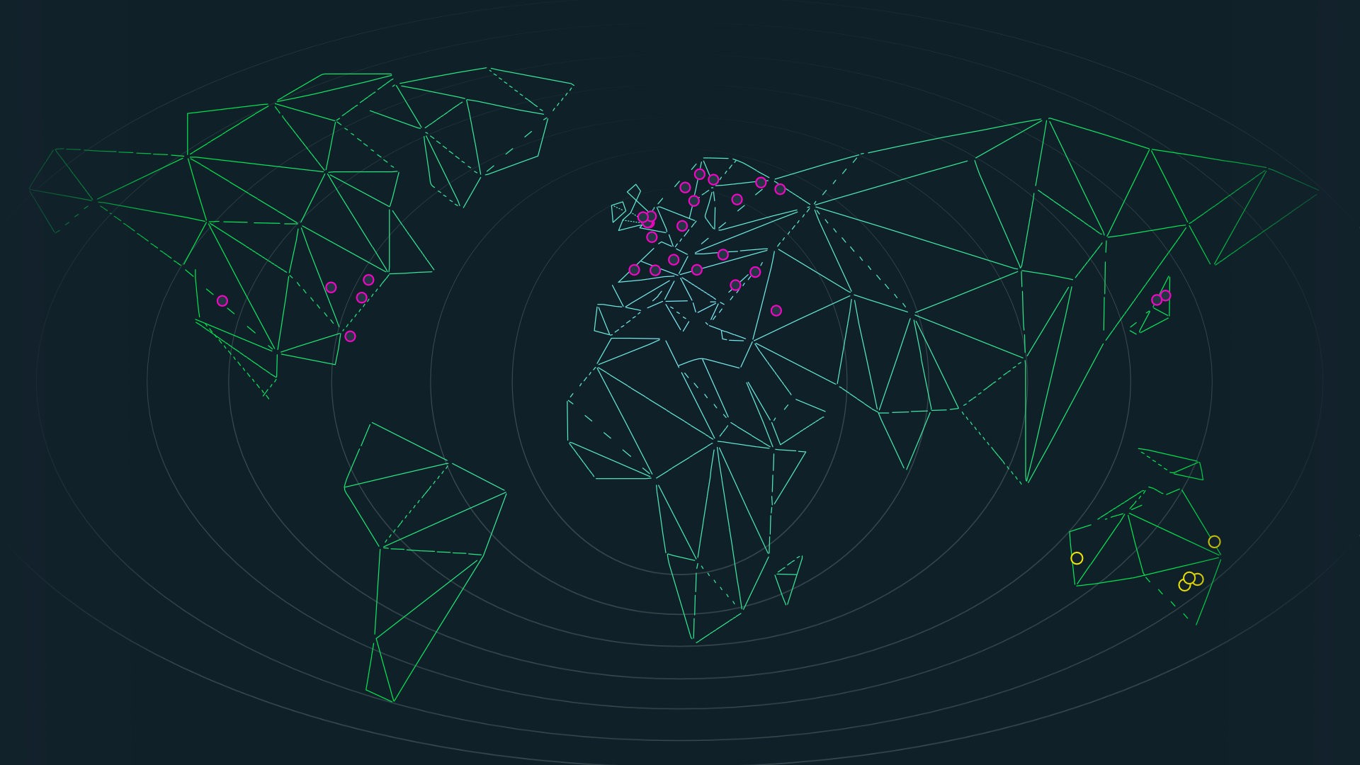 global network stylised